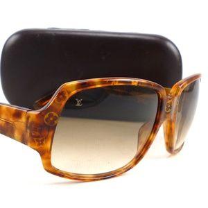 Auth Louis Vuitton Monogram Acetate Sunglasses